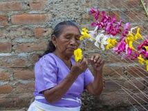 Flower & Palm Festival in Panchimalco, El Salvador Stock Photo