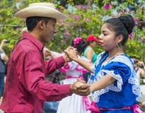 Flower & Palm Festival in Panchimalco, El Salvador Stock Photos