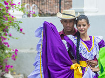 Flower & Palm Festival in Panchimalco, El Salvador Royalty Free Stock Photo