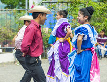 Flower & Palm Festival in Panchimalco, El Salvador Stock Image
