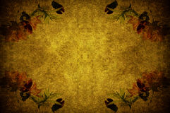 Flower paper. A grunge paper ornated with flowers Royalty Free Stock Images