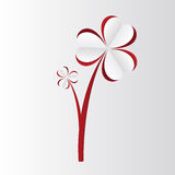 Flower. Paper hearts. Happy valentine's day. Vector Royalty Free Stock Photos