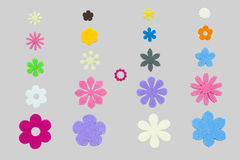 Flower Papercuts Stock Photography
