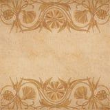 Flower parchment background Stock Photo