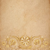 Flower parchment background Stock Photography