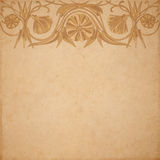 Flower parchment background Royalty Free Stock Photography