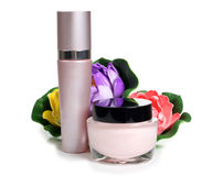 Flower and parfums Stock Image