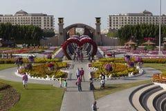 Flower Park in Dubai (Dubai Miracle Garden). United Arab Emirates. Royalty Free Stock Photos