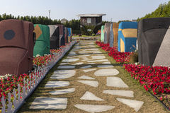Flower Park in Dubai (Dubai Miracle Garden). United Arab Emirates. Royalty Free Stock Photos