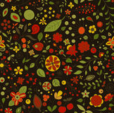 Flower party. Seamless pattern. Stock Photo