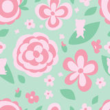 Flower pastel color green seamless pattern Royalty Free Stock Photos