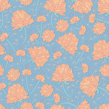 Flower pastel color seamless pattern Stock Images