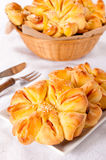 Flower pastry Royalty Free Stock Photography