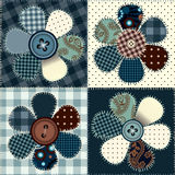 Flower patchwork Royalty Free Stock Photo