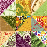 Flower Patchwork Royalty Free Stock Photos