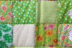 Flower patchwork quilt Stock Image
