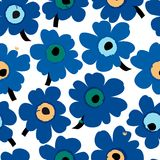 Flower patter, seamless,  illustration Royalty Free Stock Images
