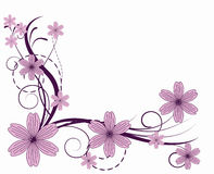 Flower pattern. Decoratively romantically abstraction illustration Stock Photos