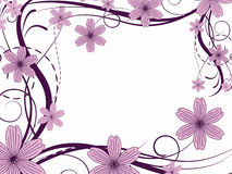 Flower pattern. Decoratively romantically abstraction illustration Royalty Free Stock Images