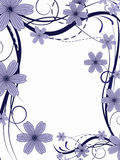 Flower pattern. Decoratively romantically abstraction illustration Stock Photography