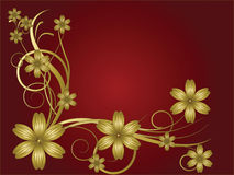 Flower pattern. Decoratively romantically abstraction illustration Stock Photo