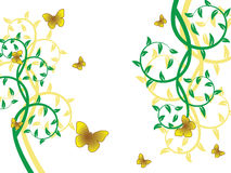 Flower pattern. Decoratively romantically abstraction illustration Stock Images
