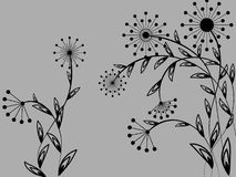 Flower pattern. Flower decoratively romantically abstraction illustration Royalty Free Stock Image
