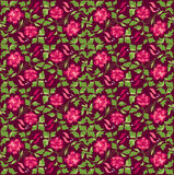 Flower pattern. Vector illustration of floral pattern, red background Stock Photography