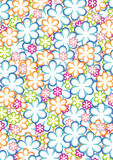 Flower pattern 2. An vector illustration of colourful flower pattern Stock Photo
