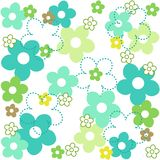 Flower pattern. Colorful floral seamless pattern specially spring themed designs Royalty Free Stock Photography