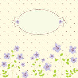 Flower pattern. Vector summer background with flowers and leaves for card and invitation Stock Photos