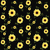 Flower pattern. Vector seamless background with flowers Stock Photo