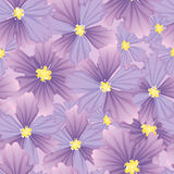 Flower pattern. Vector seamless background with flowers Stock Image