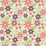 Flower pattern. Vector seamless background with flowers Royalty Free Stock Photography