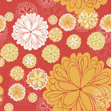 Flower pattern. Vector seamless background with flowers Stock Illustration