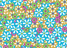 Flower pattern 3. An vector illustration of colourful flower pattern Stock Photo