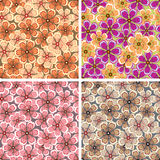 Flower pattern. The vector seamless flower pattern Royalty Free Stock Photography