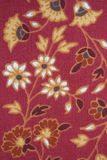 Flower pattern. A floral textile pattern in red and yellow Stock Photo