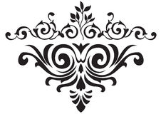 Flower pattern. Black flower design for any perpose Stock Photos