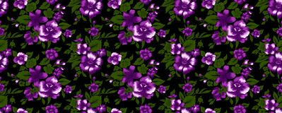 Flower pattern 52. Flower design for fabric pattern and wallpaper Royalty Free Stock Photo