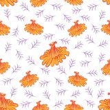 Flower pattern. Abstraction royalty free illustration
