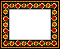 Flower pattern as frame Stock Photography