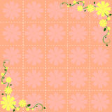 Flower pattern background design Royalty Free Stock Photo