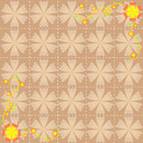 Flower pattern background design Stock Photography