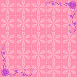 Flower pattern background design Royalty Free Stock Photos