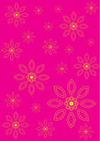Flower Pattern Background Set Royalty Free Stock Photos