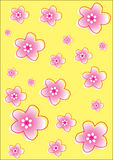Flower Pattern Background Set Royalty Free Stock Images