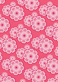Flower Pattern Background Set Stock Image