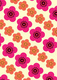 Flower Pattern Background Set Royalty Free Stock Image