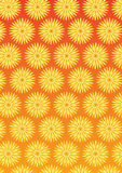 Flower Pattern Background Set Stock Images